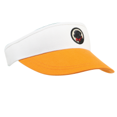 Orange and White Visor